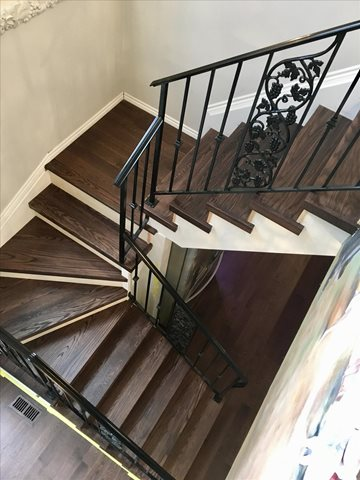 Mercier Hardwood Flooring and stair installation
