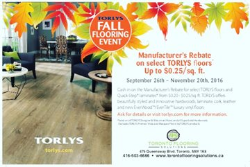 Torlys Fall Sale Please contact us for more information.