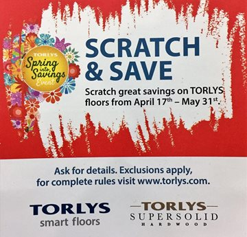 Torlys SPRING SALE is finally here